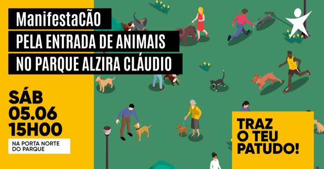 ManifestaCÃO em Carregal do Sal para que a entrada a animais no Parque Alzira Cláudio não seja proibida