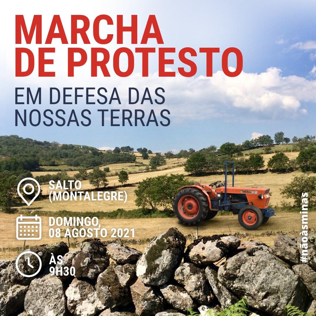 Agosto de luta contra as minas do Barroso