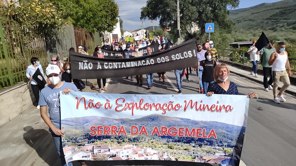Manifestação Contra a Exploração Mineira na Argemela
